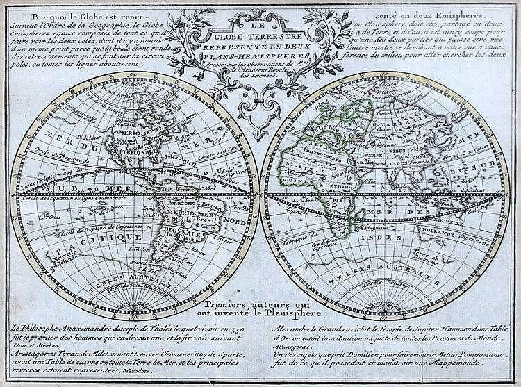 Framed worldmap