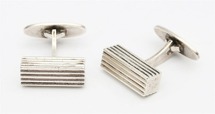 Sterling cuff links by Randers Solvvarefabrik, Denmark.