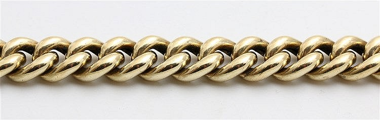 Gold bracelet, 14 krt yellow gold. 13 mm wide. Weight 49.6 gra
