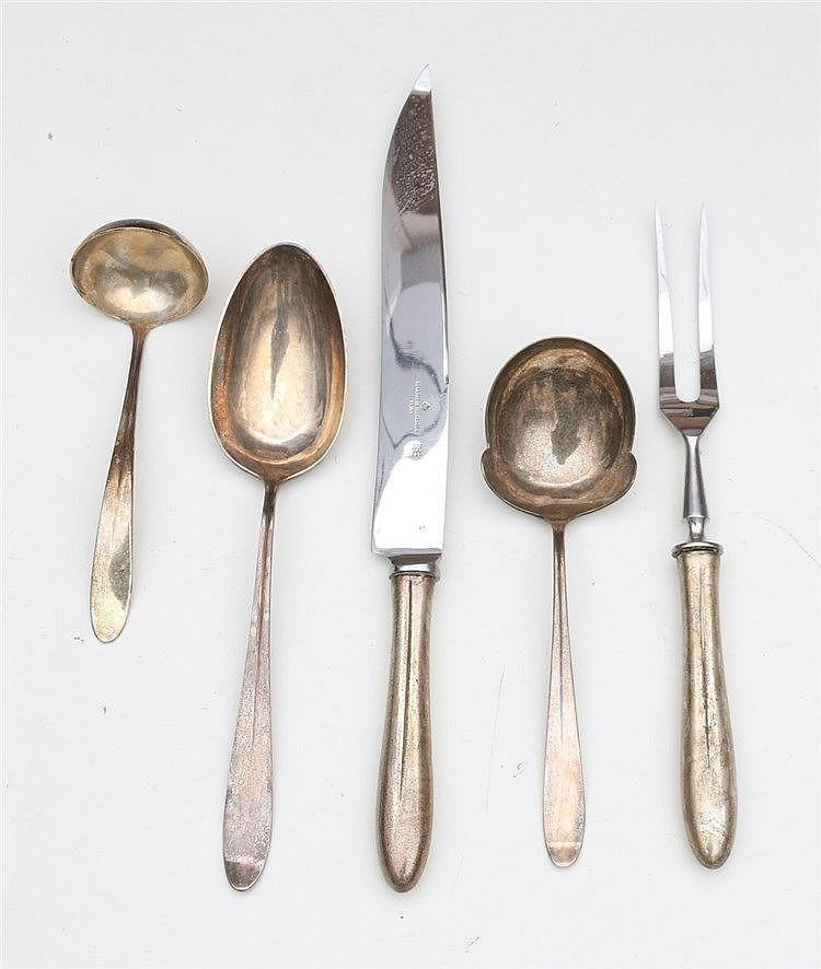 Serving silver cutlery. Design Gustav Beran, model 400.