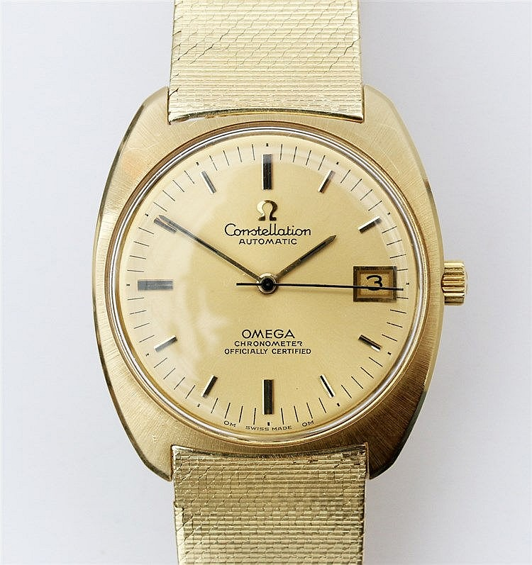 Omega Constellation Gold watch. Ref no. 168053. Automatic windi
