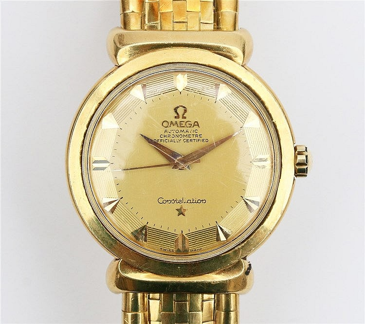 A rare 18k Gold Omega Constellation Automatic Wristwatch. Ref. n