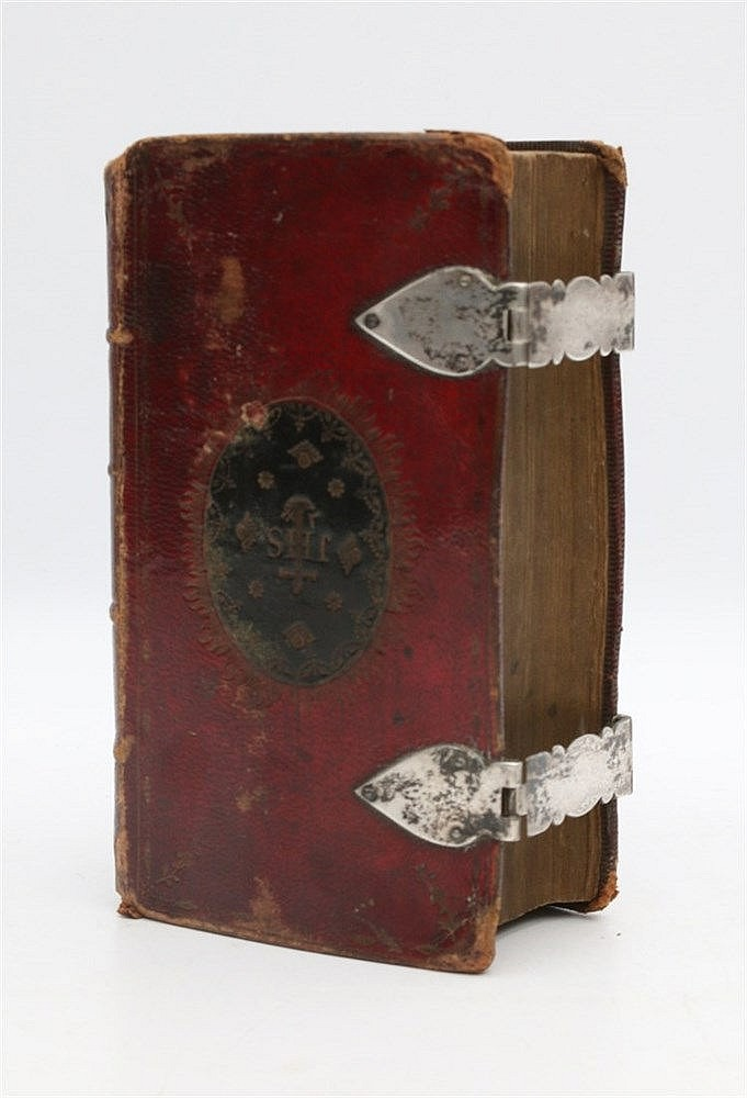 English Bible from1796, with silver clasps.