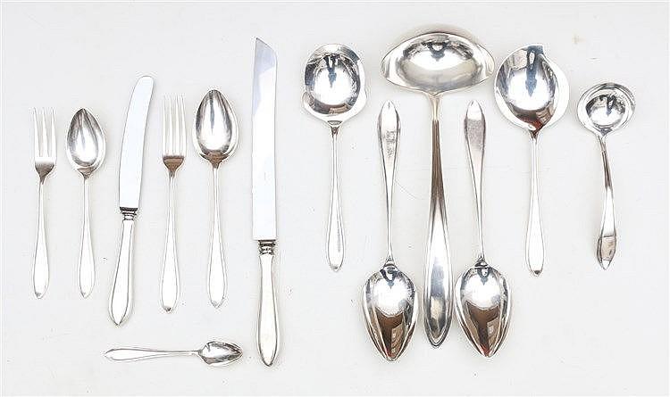 Silver cutlery by Zilverfabriek gebr Huisman, Schoonhoven, circa