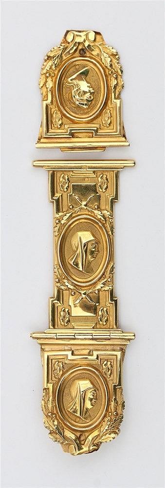 Gold Bible clasp by Cornelis Giltaij, Dordrecht. Hallmarked in R