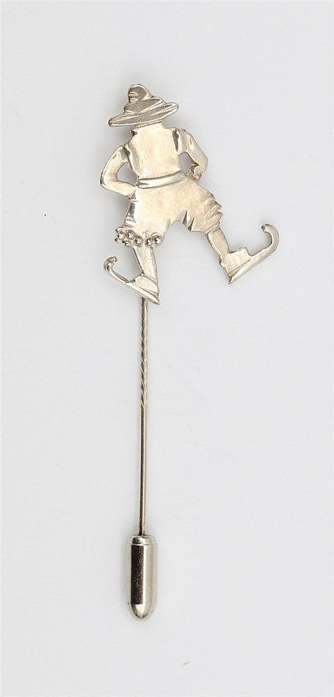 Silver pin by Anneke Schat, Dutch jewellery artist. Theme Ice-