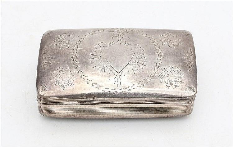 Silver snuffbox by Pieter Lobensteijn, Schoonhoven, 1853.