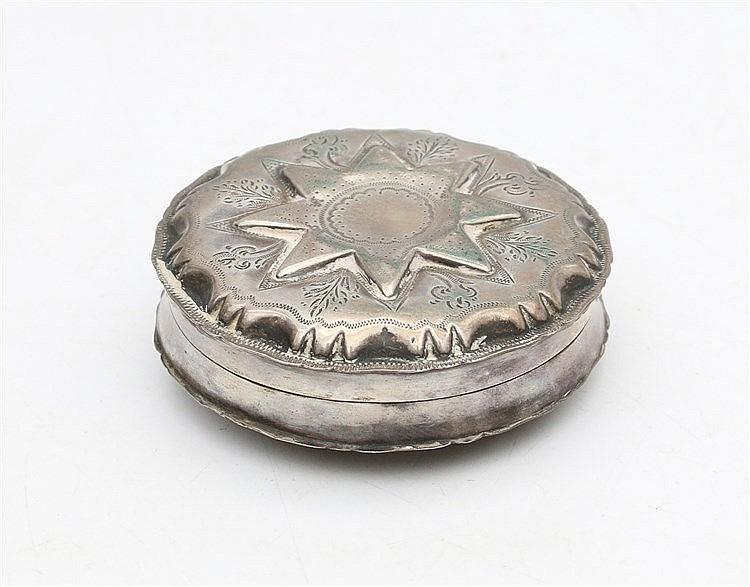 Silver mintbox by J. D. Wendels Dz., Schoonhoven, 1888. Diamete