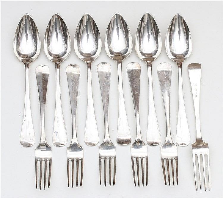 Silver cutlery by J. M. van Kempen & Zn., Voorschoten, late 19t