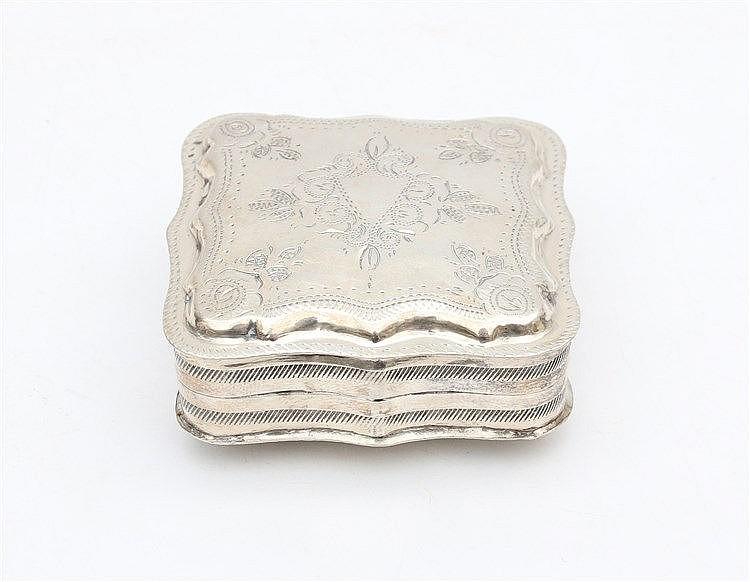 Silver mintbox. Schoonhoven, 1870.