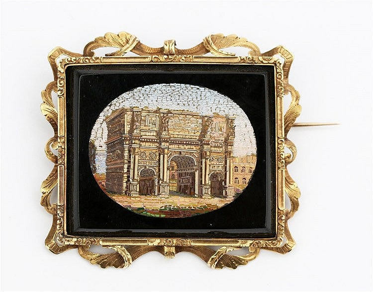 Micro mosaic brooch. Constantines Triumphal Arch, Forum Romanum.