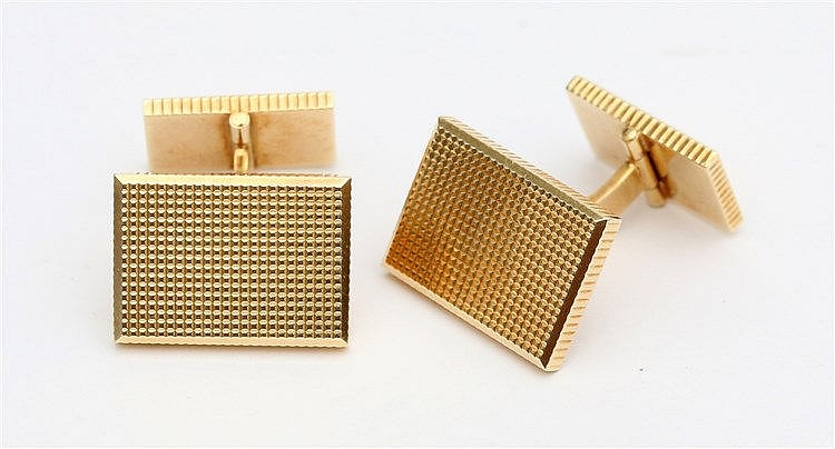 14 krt Yellow gold cuff links. Weight 24.6 gram.