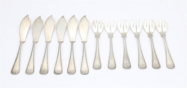 Silver fish cutlery by Van Kempen & Zn and Zilverfabriek Voorsc