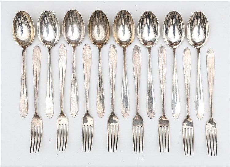 Silver cutlery by Gerritsen & van Kempen, Zeist. Design by Gust