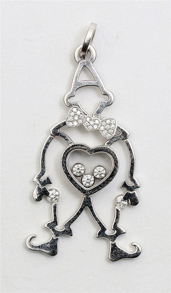 Chopard Harlequin Happy Diamonds pendant. Numbered 797225. 18 k