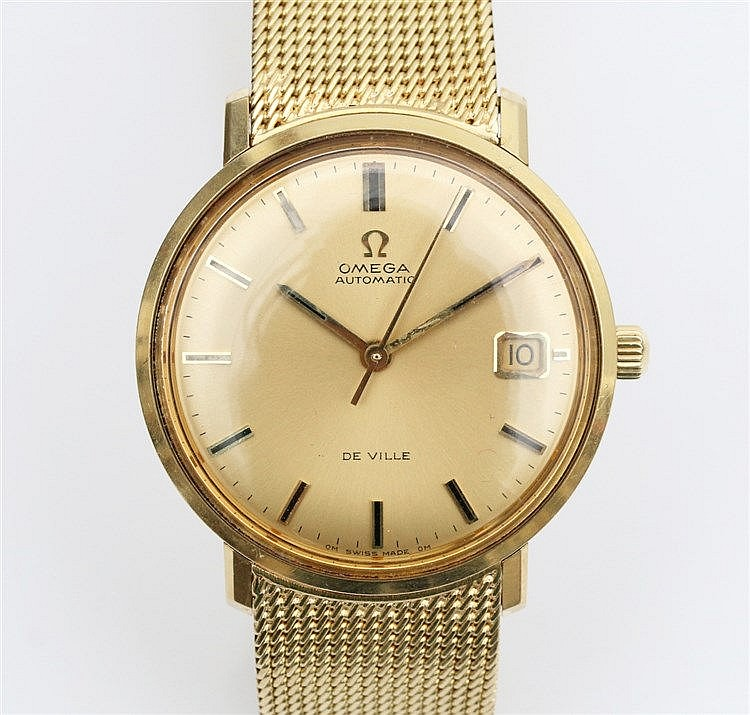 Gold wrist watch, Omega de Ville, Automatic. Ref. nr.166033. 14