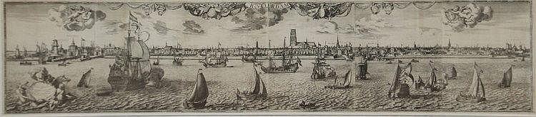 Jacob Quack (1622-1668) 'Rotterdam'. Gedateerd