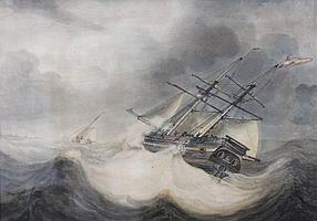 Johan Hendrik Boshamer (1775-1862) Zeilschepen
