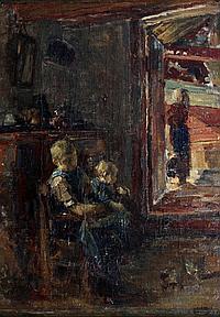 Henricus Johannes Melis (1845-1923) Een interieur