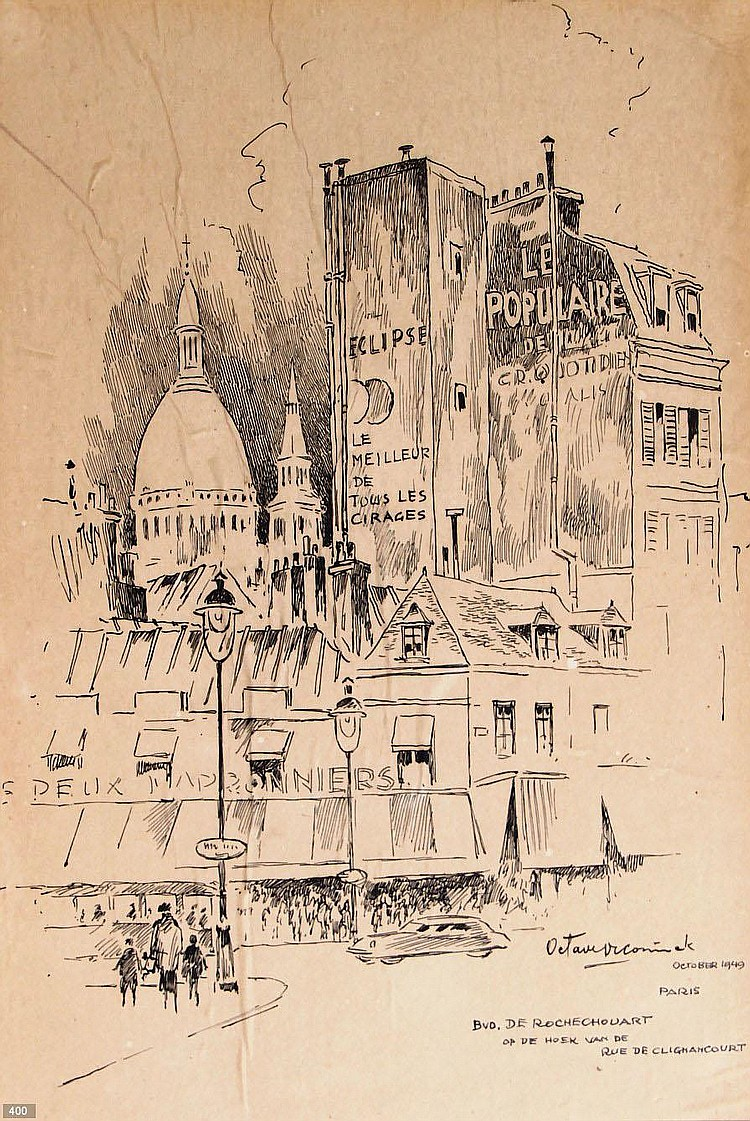 Octave de Coninck (1894-1974) 'Bvd. De