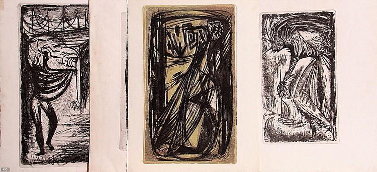 Johan van Reede (Geb. 1921) Zes etsen. Deels