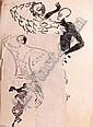 Johan van Reede (Geb. 1921) Drie tekeningen. Dans., Johannes