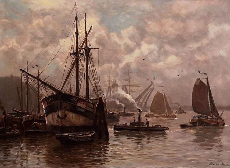 Carl Frederiksen (1892-1932) Haven van Rotterdam.