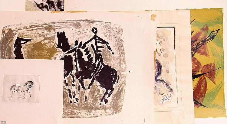 Johan van Reede (Geb. 1921) Vijf stuks grafiek en