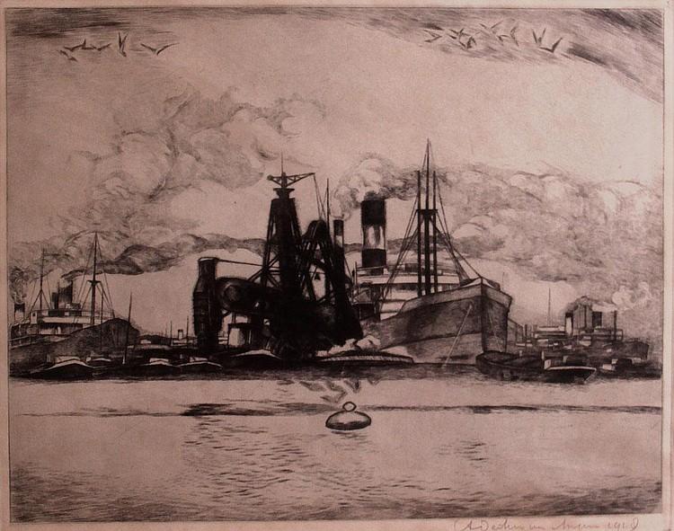 Antoon Derkzen van Angeren (1878-1961) Schepen in