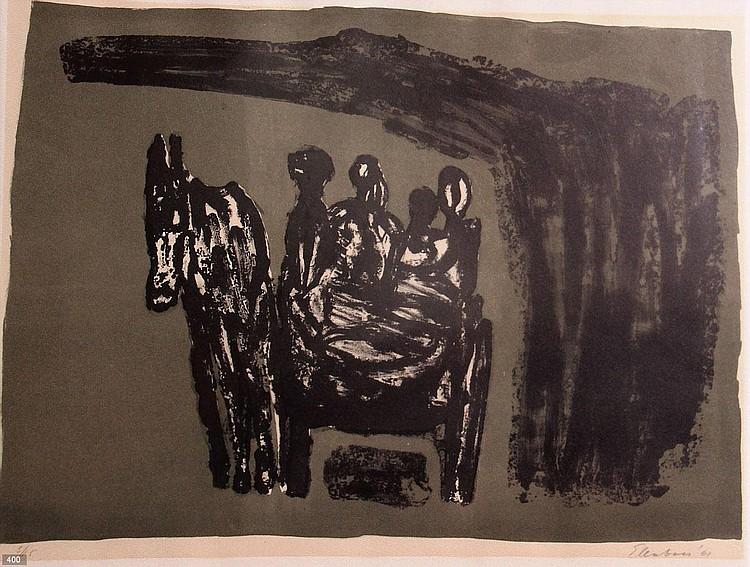 Wally Elenbaas (1912-2008) Compositie met paard.
