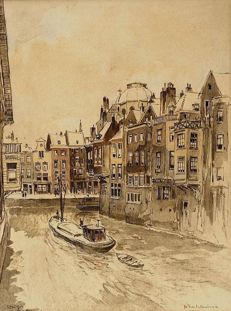 Octave de Coninck (1894-1974) 'Steiger Rotterdam'.