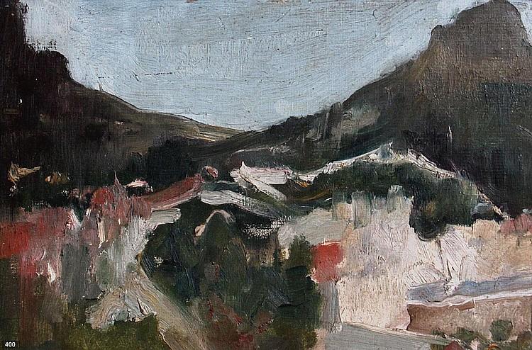 Eduard Frankfort (1864-1920) Berglandschap te