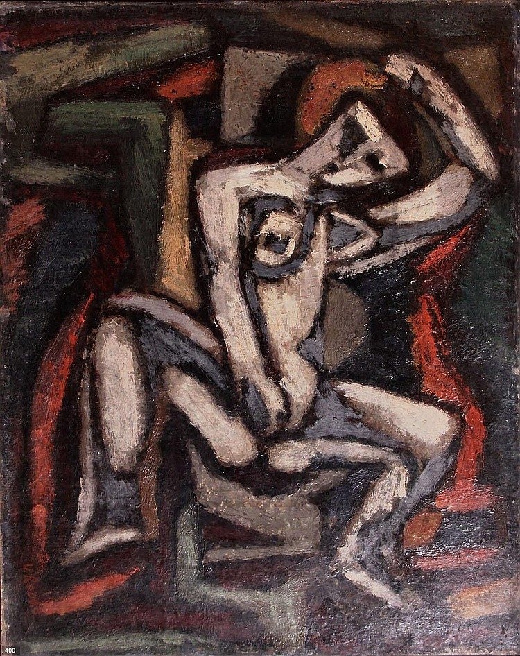 Louis van Roode (1914-1964) Vrouwelijk naakt.
