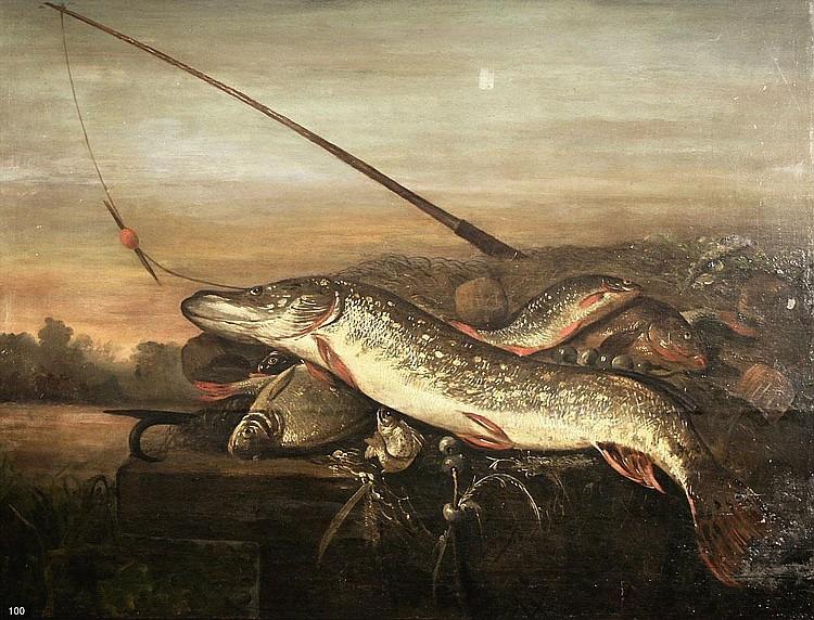 Pieter van Noort (1592/1602-1662) 'De visvangst'.