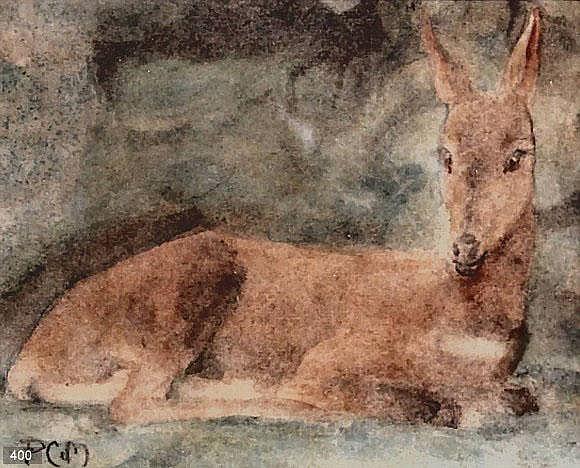 Pieter Christiaan de Moor (1866-1953) Liggend