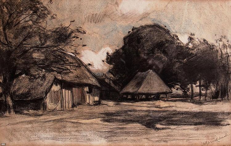 Willem Wenckebach (1860-1937) Boerderij.