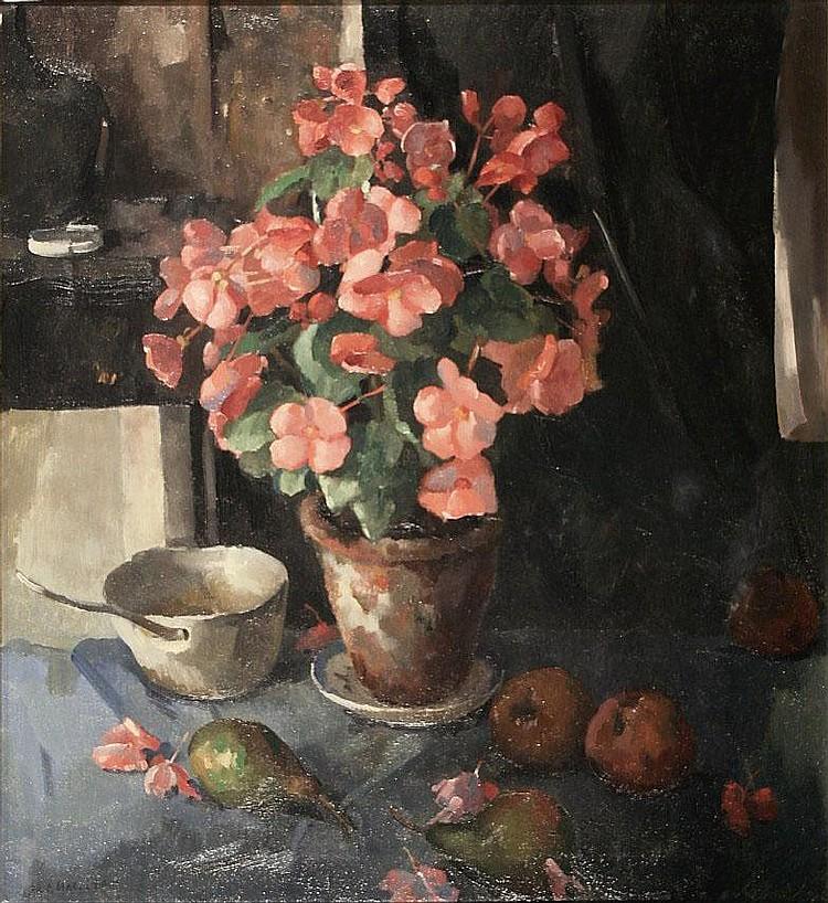 Heinrich Carl Macleane (1898-1972) Bloemstilleven.