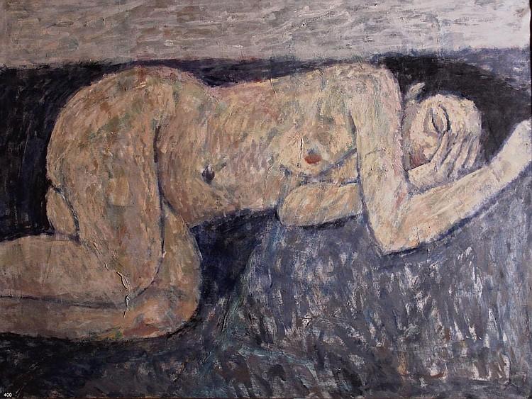 Louis van Roode (1914-1964) Liggend naakt (Lotte