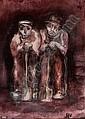 Dolf Henkes (1903-1989) Twee losarbeiders met, Roelof Lucas Johannes Henkes, Click for value