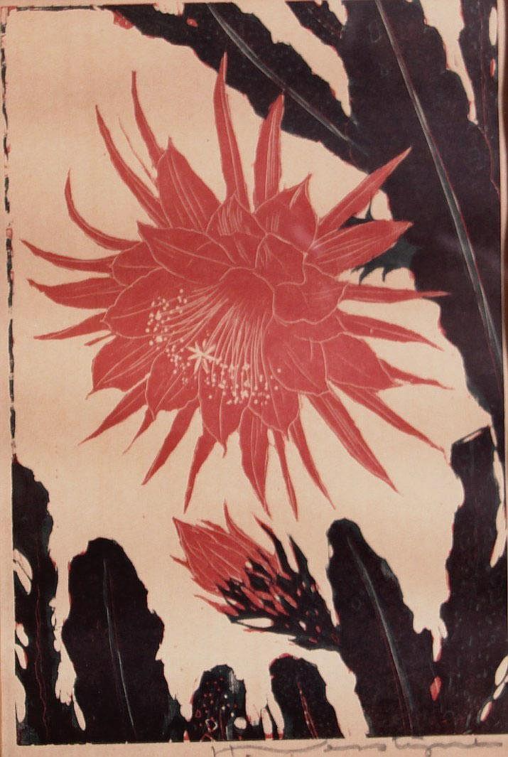 Henri Verstijnen (1882-1940) Bloeiende cactus.