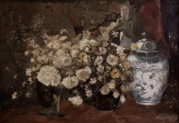 Marie Heineken (1844-1930) Bloemstilleven.