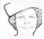 Marte Röling (Geb. 1940) Portret Koningin Beatrix.