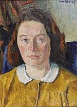 Charles Jean Kemper (1913-1986) Portret van vrouw,