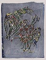 Jan Bezemer (1907-1997) 'Vechtende vogels'.