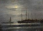 Jan Kuijpers (1819-1892) Voor anker liggende