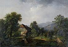 Toegeschreven aan Eduard Friedrich Pape (1817-1905) - Mountainous landscape with a
