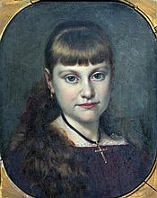Pieter Willem Sebes (1827-1906), Portret van meisj