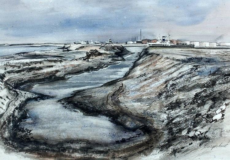 Jan Burgerhout (1919-1981), Het uitgraven van de O