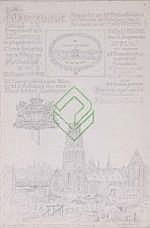 Een tekening, Eugène Rensburg. 'Oorkonde,
