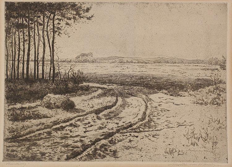 Martin van Waning (1889-1972) 'Heideweg'.